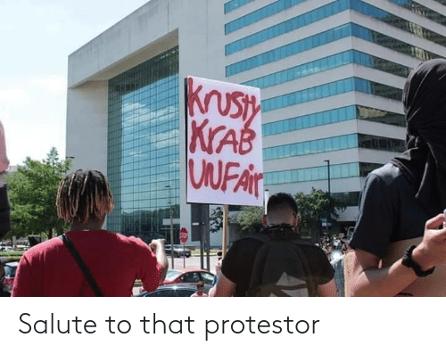 Salute: Salute to that protestor