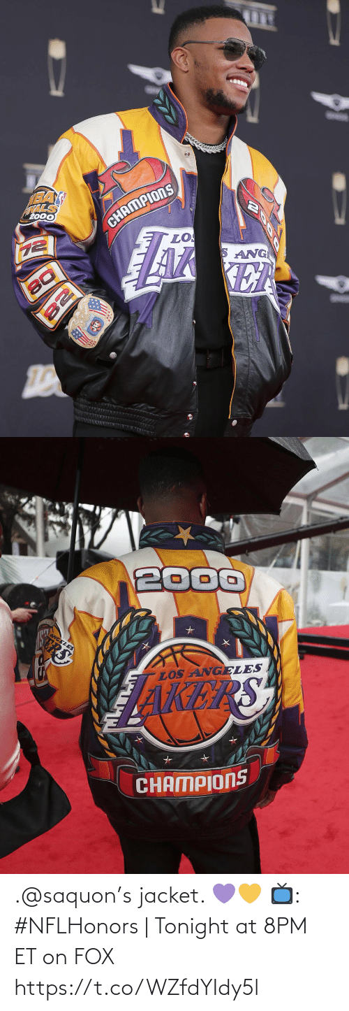 jacket: .@saquon's jacket. 💜💛  📺: #NFLHonors   Tonight at 8PM ET on FOX https://t.co/WZfdYIdy5l