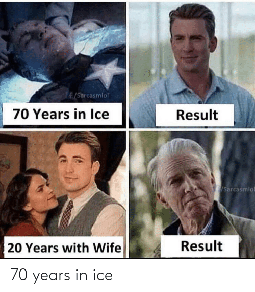 Wife, Ice, and  Years: /Sarcasmlol  70 Years in Ice  Result  /Sarcasmlo  Result  20 Years with Wife 70 years in ice