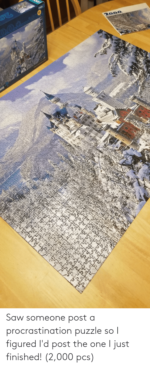 Procrastination: Saw someone post a procrastination puzzle so I figured I'd post the one I just finished! (2,000 pcs)