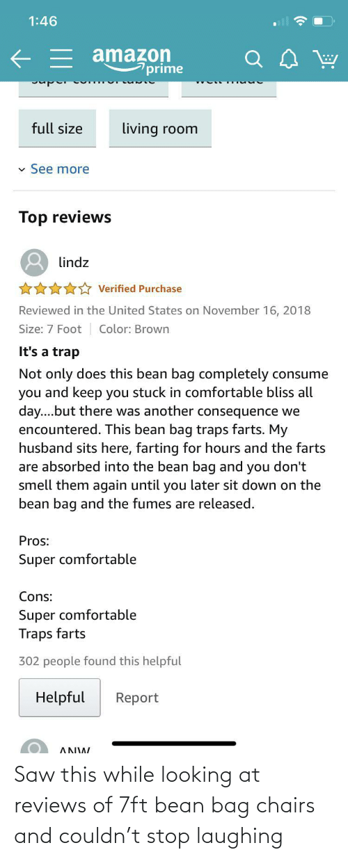 looking: Saw this while looking at reviews of 7ft bean bag chairs and couldn't stop laughing