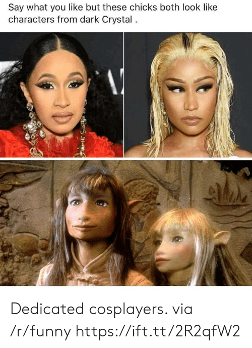 cosplayers: Say what you like but these chicks both look like  characters from dark Crystal. Dedicated cosplayers. via /r/funny https://ift.tt/2R2qfW2