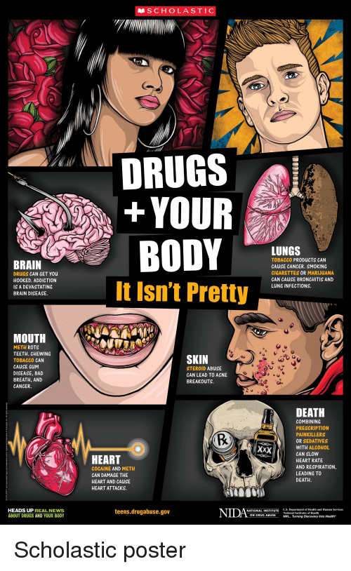 SCHOLASTIC DRUGS YOUR LUNGS BRAIN TOBACCO PRODUCTS CAN CAUSE CANCER