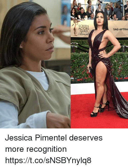 guild: SCREEN  ACTORS  GUILD  SAG AFTRA Jessica Pimentel deserves more recognition https://t.co/sNSBYnylq8