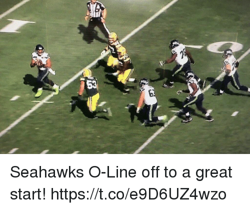 Greatful: Seahawks O-Line off to a great start! https://t.co/e9D6UZ4wzo