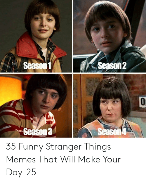 Funny, Memes, and Day: Season1  Season2  Season3  Season 4 35 Funny Stranger Things Memes That Will Make Your Day-25