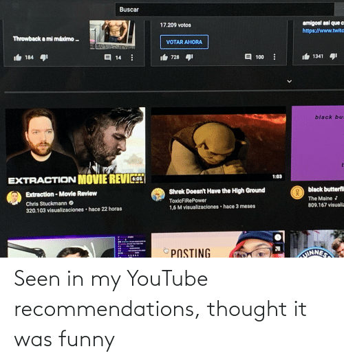 recommendations: Seen in my YouTube recommendations, thought it was funny