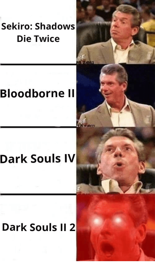 Bloodborne, Dark Souls, and Dark: Sekiro: Shadows  Die Twice  Bloodborne ll  Dark Souls IV  Dark Souls II 2
