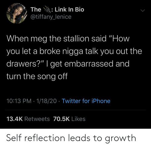 self: Self reflection leads to growth