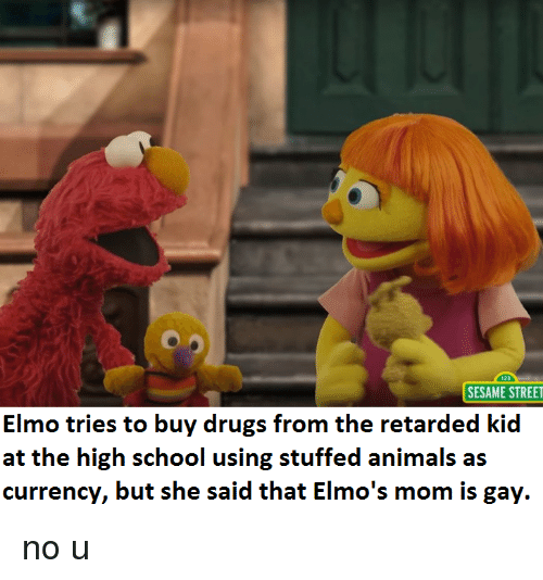 Sesame Street Elmo Tries To Buy Drugs From The Retarded Kid Currency