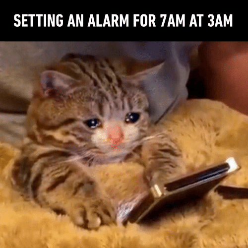 Alarm: SETTING AN ALARM FOR 7AM AT 3AM