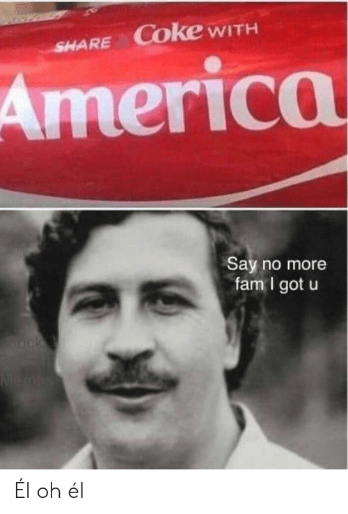 Say No More: SHARE COke WITH  America  Say no more  fam I got u  Rok  Menbs Él oh él
