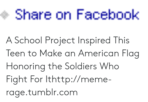 Share on Facebook a School Project Inspired This Teen to