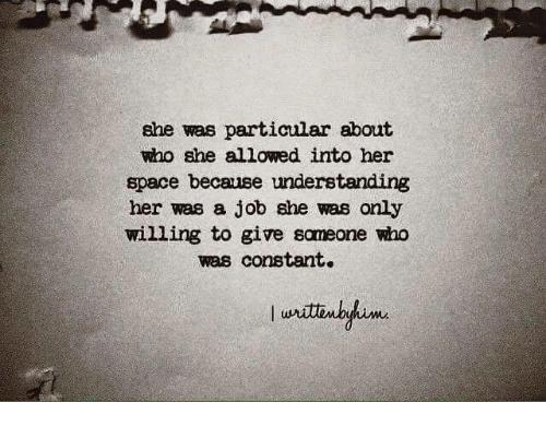 She Was Particular About Who She Allowed Into Her Space