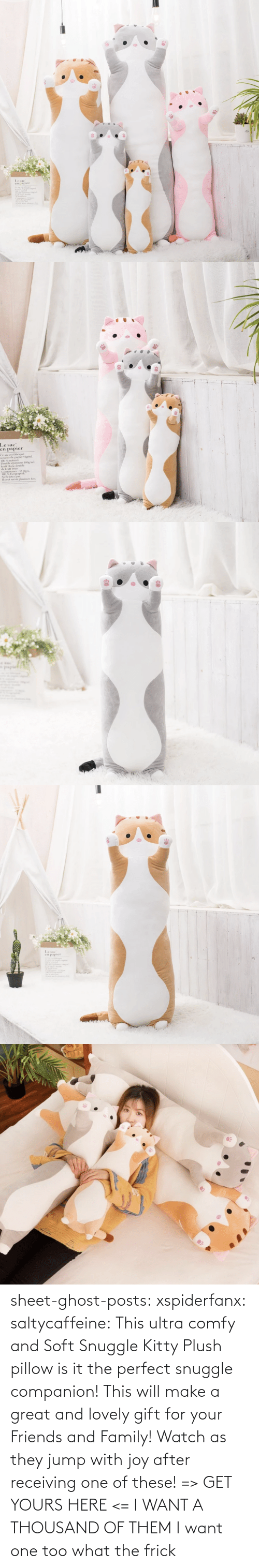 comfy: sheet-ghost-posts: xspiderfanx:  saltycaffeine:  This ultra comfy and Soft Snuggle Kitty Plush pillow is it the perfect snuggle companion! This will make a great and lovely gift for your Friends and Family! Watch as they jump with joy after receiving one of these! => GET YOURS HERE <=    I WANT A THOUSAND OF THEM  I want one too what the frick