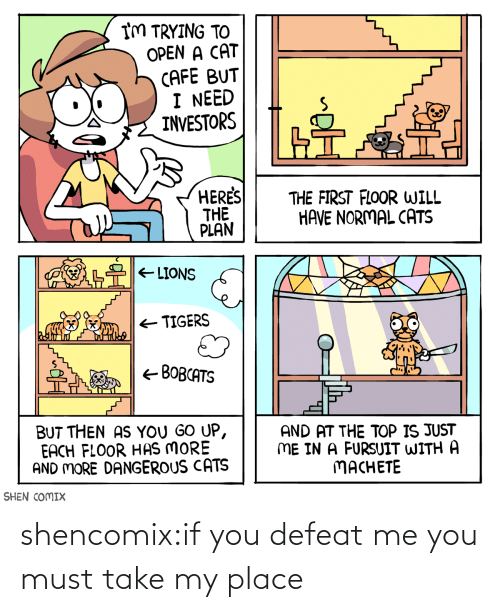 me you: shencomix:if you defeat me you must take my place