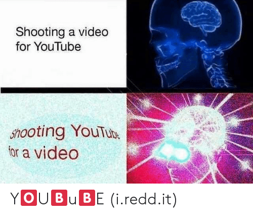 Ooting: Shooting a video  for YouTube  5%ooting YouTuh  for a video Y🅾️U🅱️u🅱️E (i.redd.it)