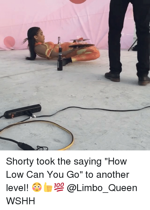 """shorty's: Shorty took the saying """"How Low Can You Go"""" to another level! 😳👍💯 @Limbo_Queen WSHH"""
