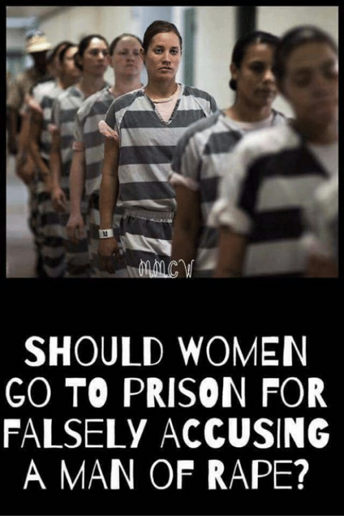 Memes, Prison, and Rape: SHOULD WOMEN  GO TO PRISON FOR  FALSELY ACCUSING  A MAN OF RAPE?