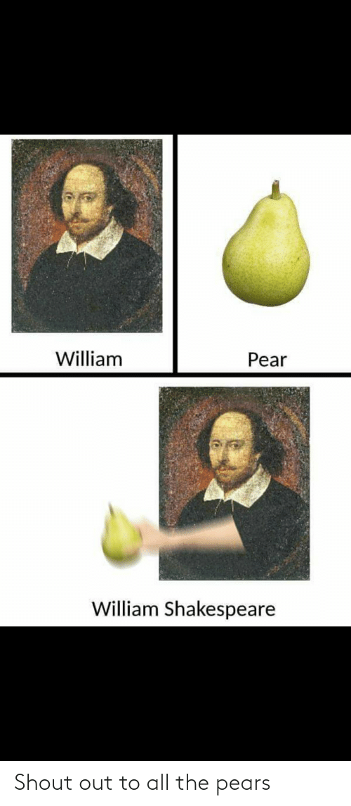 Pears: Shout out to all the pears
