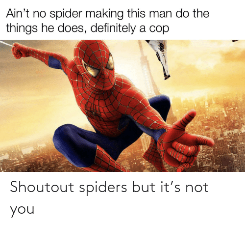 Spiders: Shoutout spiders but it's not you