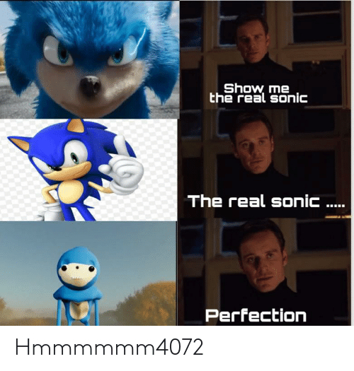 Show Me the Real Sonic the Real Sonic Perfection Hmmmmmm4072