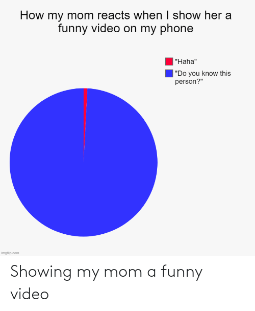 Video: Showing my mom a funny video