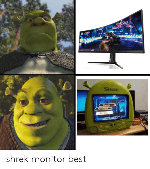 monitor: SHREK  Clasein  Р  All Sta shrek monitor best