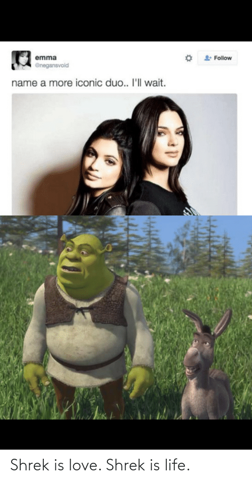 Shrek: Shrek is love. Shrek is life.