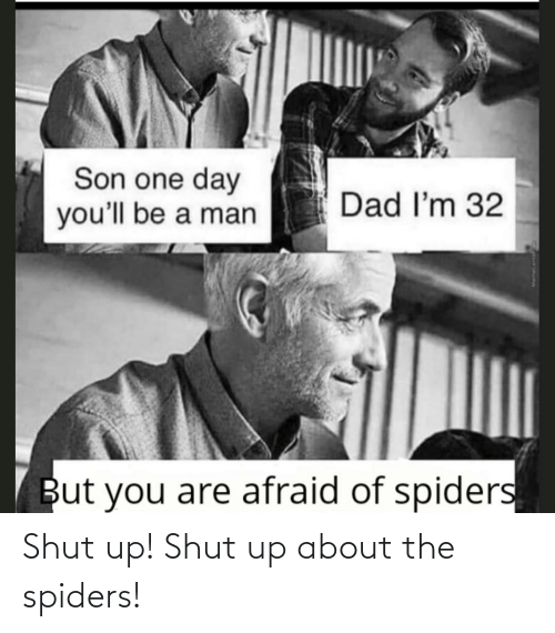 Spiders: Shut up! Shut up about the spiders!