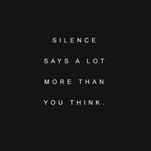 Silence, More, and Youthink: SILENCE  SAYS A LO T  MORE THA N  YOUTHINK.