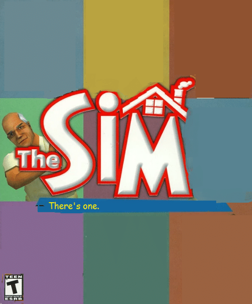sim: SiM  The  There's one.  TEEN  coNTNT ATE  ESRB