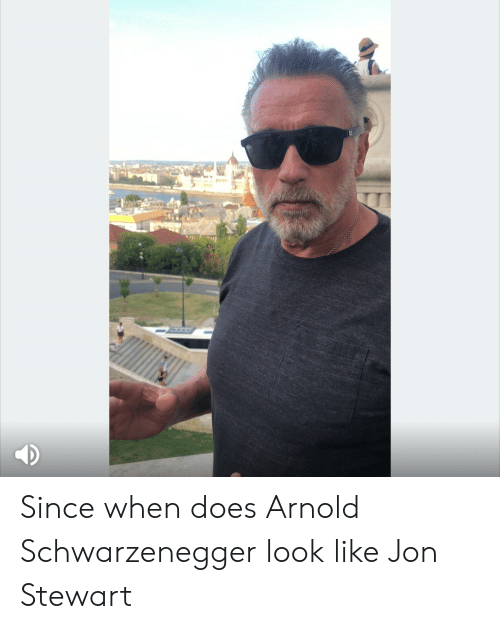 Arnold Schwarzenegger: Since when does Arnold Schwarzenegger look like Jon Stewart