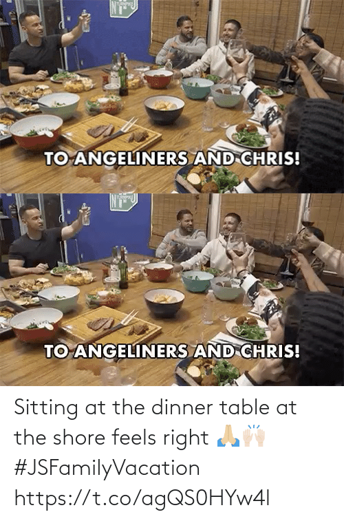 feels: Sitting at the dinner table at the shore feels right 🙏🏼🙌🏻 #JSFamilyVacation https://t.co/agQS0HYw4l