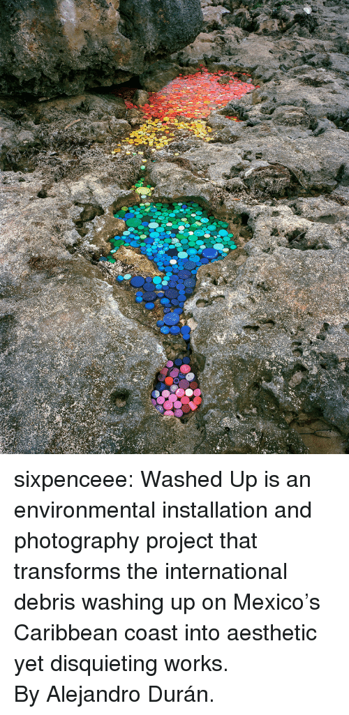 Target, Tumblr, and Aesthetic: sixpenceee:  Washed Up is an environmental installation and photography project that transforms the international debris washing up on Mexico's Caribbean coast into aesthetic yet disquieting works. ByAlejandro Durán.