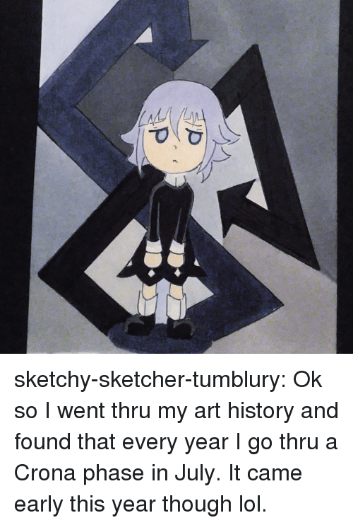 art history: sketchy-sketcher-tumblury:  Ok so I went thru my art history and found that every year I go thru a Crona phase in July. It came early this year though lol.