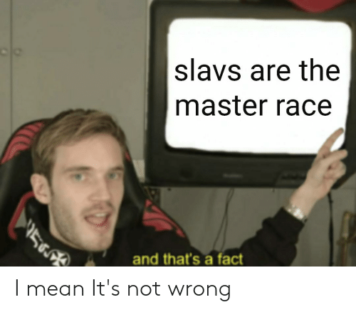 Reddit, Mean, and Race: slavs are the  master race  5  and that's a fact I mean It's not wrong