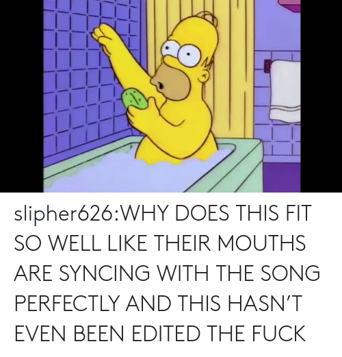 Mouths: slipher626:WHY DOES THIS FIT SO WELL LIKE THEIR MOUTHS ARE SYNCING WITH THE SONG PERFECTLY AND THIS HASN'T EVEN BEEN EDITED THE FUCK