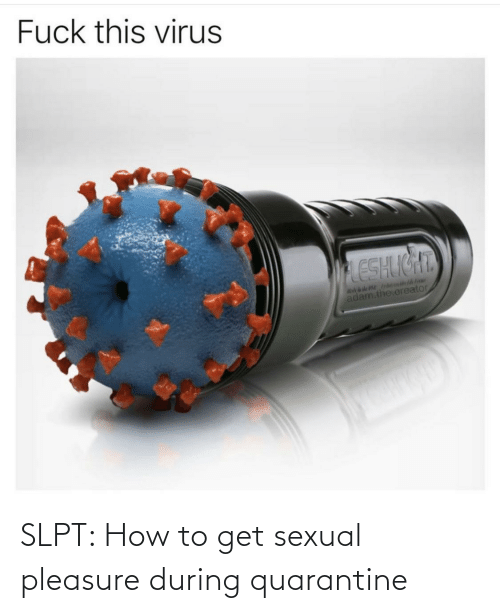 How To Get: SLPT: How to get sexual pleasure during quarantine