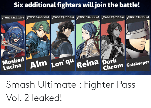 Smash Ultimate: Smash Ultimate : Fighter Pass Vol. 2 leaked!