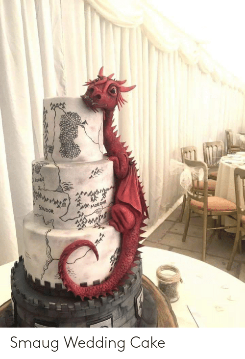 Wedding: Smaug Wedding Cake