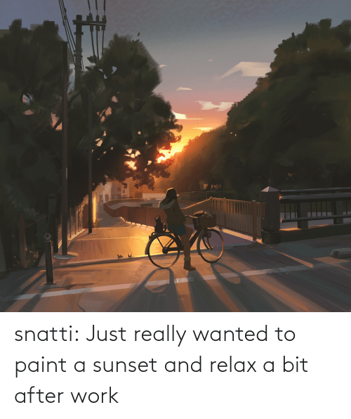 after work: snatti:   Just really wanted to paint a sunset and relax a bit after work