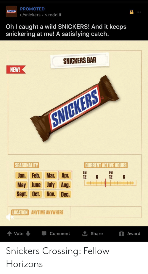 snickers: Snickers Crossing: Fellow Horizons
