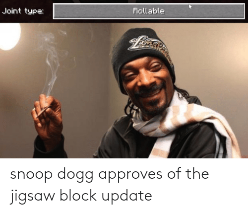 snoop dogg: snoop dogg approves of the jigsaw block update