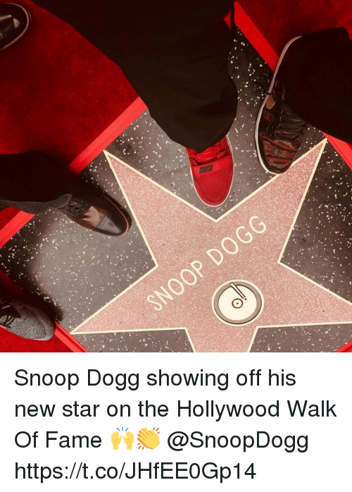 snoop dogg: Snoop Dogg showing off his new star on the Hollywood Walk Of Fame 🙌👏 @SnoopDogg https://t.co/JHfEE0Gp14