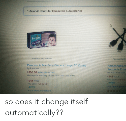 automatically: so does it change itself automatically??