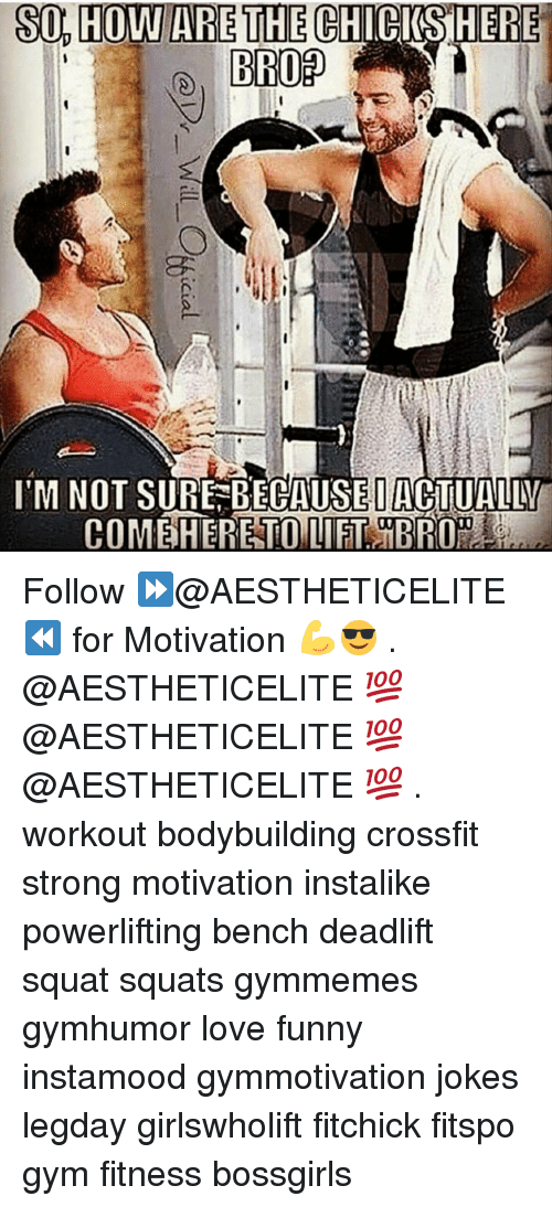 Motivationals: so, HOWARE THE CIRKSHERE  S04H0WARETHECHI CIS!HERE  I'M NOT SURE-BECAUSE|ACTUALBU  COMEiHERETOUIET iBR0 .  @Dr-Will C%icial Follow ⏩@AESTHETICELITE ⏪ for Motivation 💪😎 . @AESTHETICELITE 💯 @AESTHETICELITE 💯 @AESTHETICELITE 💯 . workout bodybuilding crossfit strong motivation instalike powerlifting bench deadlift squat squats gymmemes gymhumor love funny instamood gymmotivation jokes legday girlswholift fitchick fitspo gym fitness bossgirls