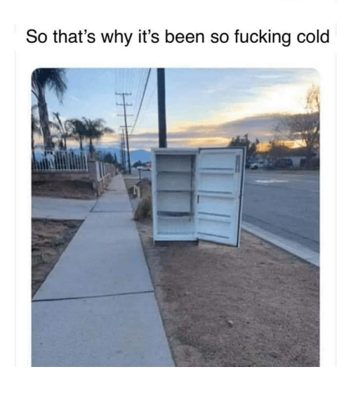 Thats Why: So that's why it's been so fucking cold So fucking cold