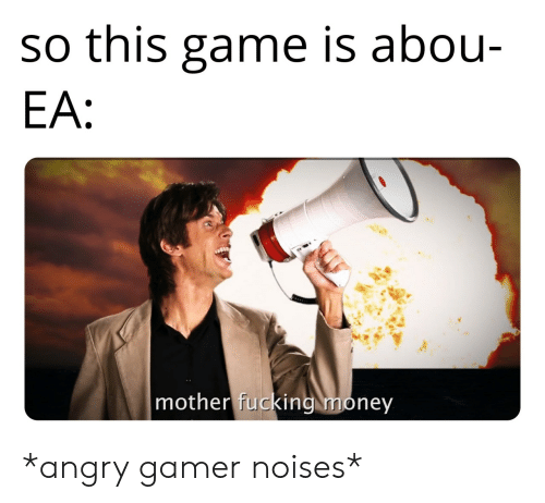 Fucking, Money, and Game: so this game is abou-  EA:  mother fucking money *angry gamer noises*