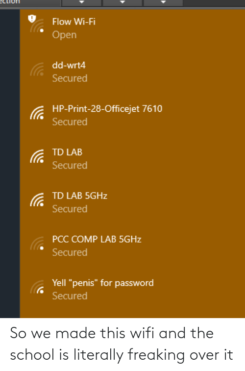 freaking: So we made this wifi and the school is literally freaking over it